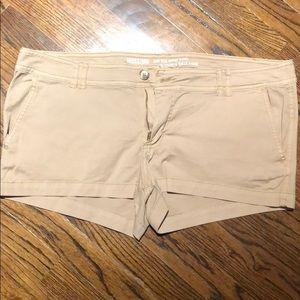 Short khaki shorts